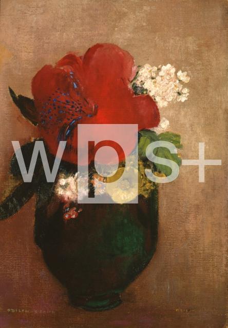 REDON Odilon|赤いけしの花 - 美術 | wps+(ワールド・フォト・サービス)