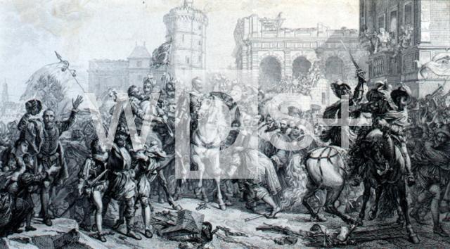 パリに入城するアンリ4世、1594...